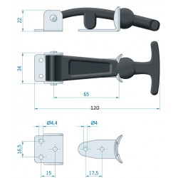Bonnet latches SS - pair
