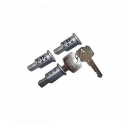 Lock Set 3 Barrels 2 Keys A/Burst Land Rover Serie 3