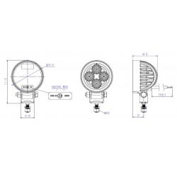 Led work lamp TRUCK-LITE 12v/24v 700 lumens
