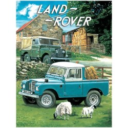 Land rover pick-up metal sign 15x20cm