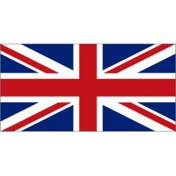 Autocollant drapeau du Royaume-Uni - 7x12cm
