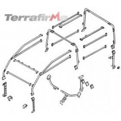 DEFENDER 90 WITHOUT BULHEAD FULL EXTERNAL ROLL CAGE