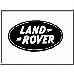 Autocollant LR Oval Noir - 6x12cm