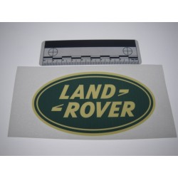 Autocollant LR Oval vert - 6 x 12 cm