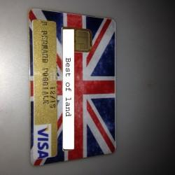 Autocollant pour carte bancaire - Drapeau anglais