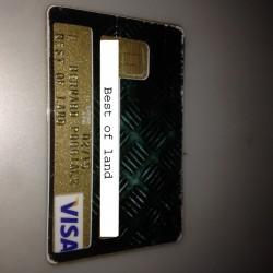 Autocollant pour carte bancaire - Plaque alu