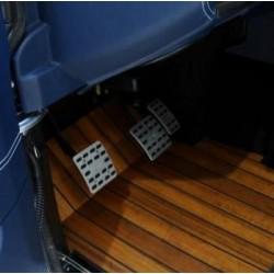 Defender TD4/TD5 aluminium pedal pads - STARTECH