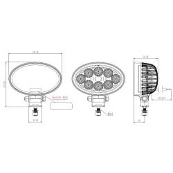 Led work lamp TRUCK-LITE 12v/24v 1400 lumens