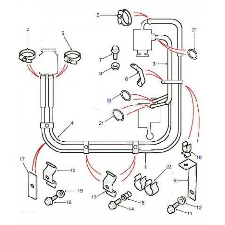 Defender Td5 Power Steering Hose N3