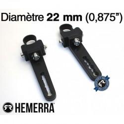 Fixations pour tube 22 mm pour barre à leds HEMERRA