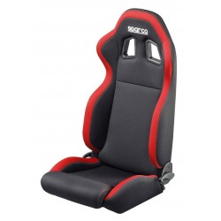 DEFENDER SPARCO seat - black/red fabric
