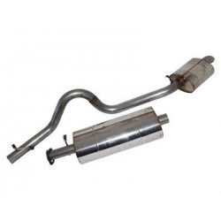 Stainless steel middle + rear silencer for DISCOVERY 300 TDI