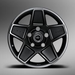 Jante aluminium KAHN MONDIAL RETRO noire 9 X 20 pour DEFENDER