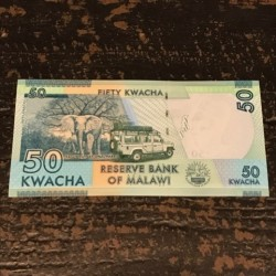 50 kwacha of Malawi Republic banknote