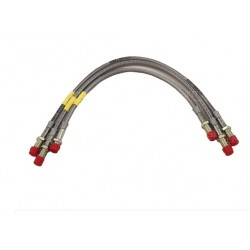 3 Goodridge brake lines kit DEFENDER 90 up to 300 TDI - + 5 cm