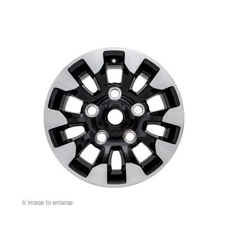 16 x 7 - Black gloss with diamond cut finish for DEFENDER
