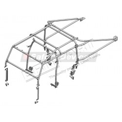 DEFENDER 130 Double Cab High Capacity Pick Up Multi Point Bolt-in Roll Cage