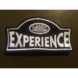 LAND ROVER EXPERIENCE embroidered badge - white/black