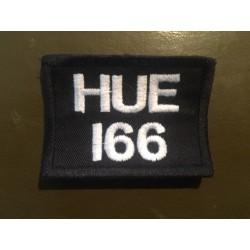 Ecusson à broder LAND ROVER HUE166 - Noir et blanc