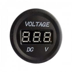 Voltmètre éclairé avec écran LCD 12V - 24V