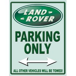 Plaque metal Land rover Parking only 30x40cm