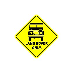 AUTOCOLLANT LAND ROVER ONLY
