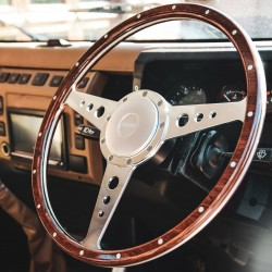 """Lignum"" Wood rim steering wheel 15 inches"