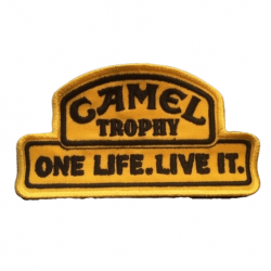 CAMEL TROPHY one life embroidered badge - gold/black