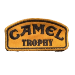 CAMEL TROPHY embroidered badge - gold/black