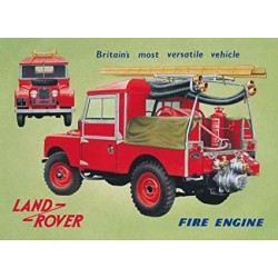 Plaque metal 3D Land rover Parking only 45x30cm