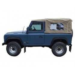 Defender 90 Full Hood - Sand With Side windows