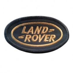 Ecusson à broder oval LAND ROVER - vert et or