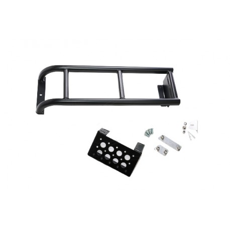 Rear Ladder short with extra step for Land Rover Defender 90/110 Black