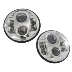 Led headlights for SERIES, DEFENDER and RRC - Chrome