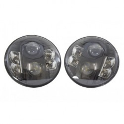 Led headlights for SERIES, DEFENDER and RRC - Black